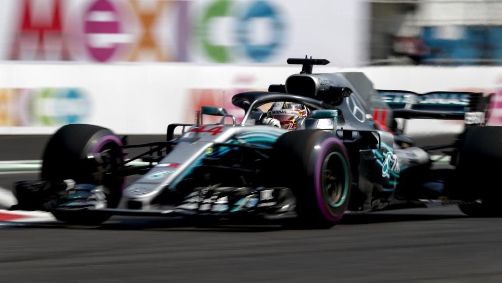 Lewis Hamilton en el GP de México 2018.