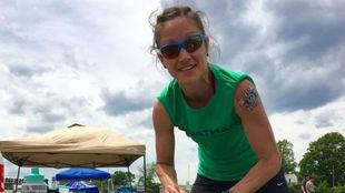 Maggie Guterl, en una carrera.