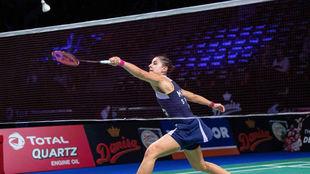 Carolina Marín, en las semifinales del Abierto de Dinamarca.