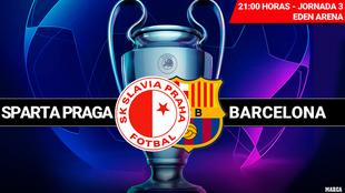 Slavia Praga - Barça: horario, canal y donde ver por TV el partido de...