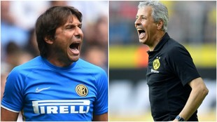 Antonio Conte (50) y Lucien Favre (61).