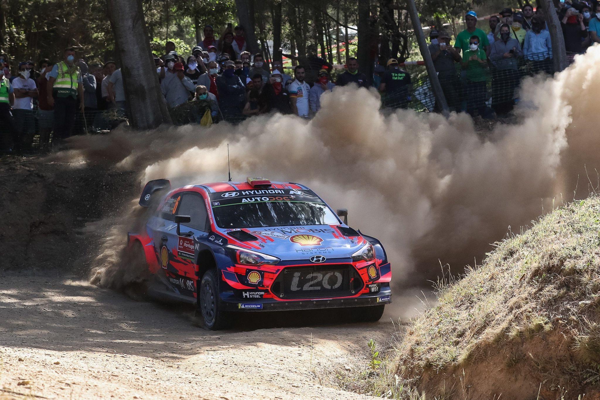 EPA8543. COIMBRA (PORTUGAL), 31/05/2019.- El piloto español Daniel <HIT>Sordo</HIT> conduce su Hyundai i20 WRC este viernes durante la segunda jornada del Rally de Portugal como parte del Campeonato Mundial de Rally (WRC), en Lousa (Portugal). En total, el Rally de Portugal tiene diseñados dieciocho tramos cronometrados en tres jornadas, una en la región Centro y dos más (sábado y domingo) en el Norte luso, con un total de 294,62 kilómetros cronometrados. EFE/Paulo Novais