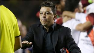 Marcelo Gallardo en la Bombonera