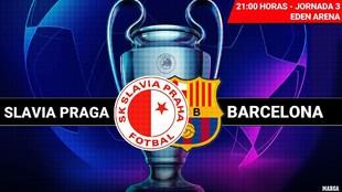 Slavia Praga - Barcelona: horario y dónde ver por TV hoy el partido...