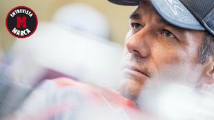 Sebastian Loeb, nueve veces campeón del mundo de rallies, durante la...