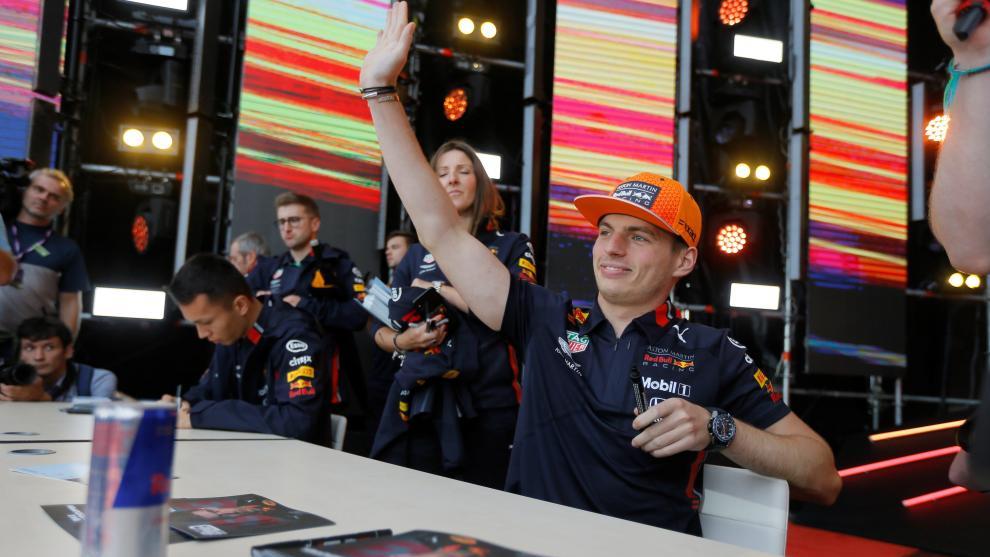 Max Verstappen, en un acto de Red Bull F1.