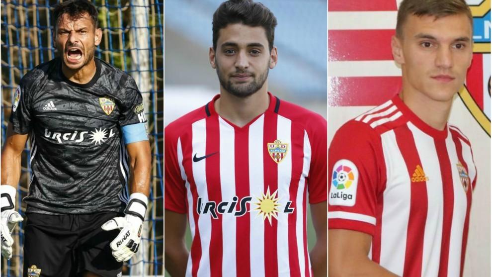 René, Iván Martos y Maras, los jugadores del Almería que más...