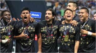 Monterrey celebrando el campeonato de la Concacaf