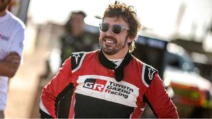 Alonso, durante el pasado Rally de Marruecos.