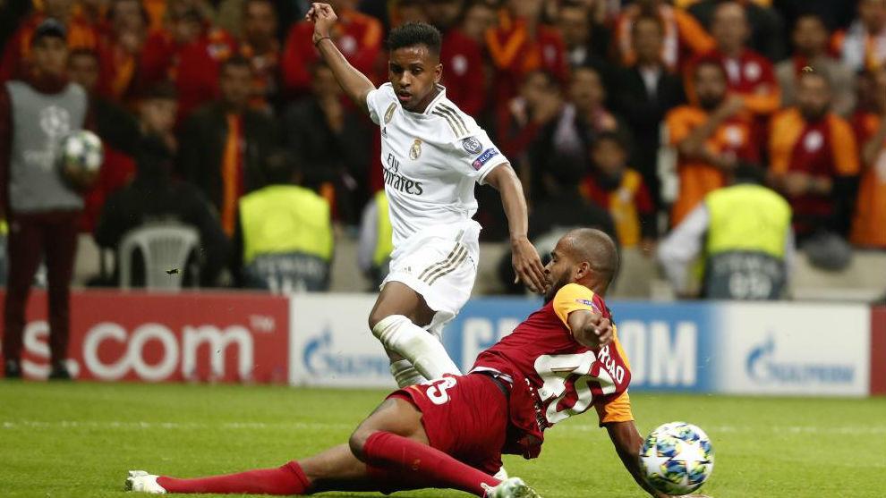 Rodrygo, en el partido de Champions frente al Galatasaray.
