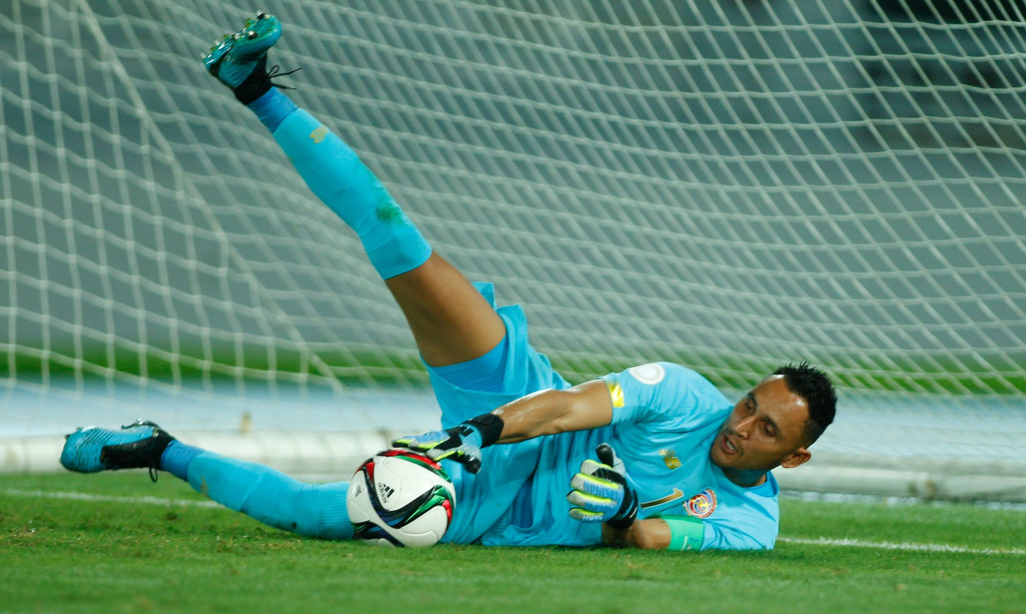 """This handout picture released by CONCACAF shows Costa Ricas goalkeeper <HIT>Keylor</HIT><HIT>Navas</HIT> during the Concacaf Nations League C tournament match between Costa Rica and Haiti in Nassau, Bahamas on October 10, 2019. (Photo by Andrew Innerarity / CONCACAF / AFP) / RESTRICTED TO EDITORIAL USE - MANDATORY CREDIT """"AFP PHOTO /CONCACAF - Andrew Innerarity"""" - NO MARKETING NO ADVERTISING CAMPAIGNS - DISTRIBUTED AS A SERVICE TO CLIENTS ---"""