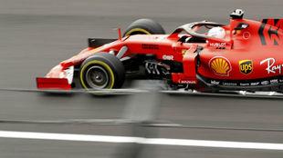Vettel, durante los libres del GP de México.