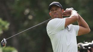 Tiger Woods en la segunda jornada del Zozo Championship.