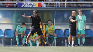 Raúl, dando órdenes durante un partido del Castilla.