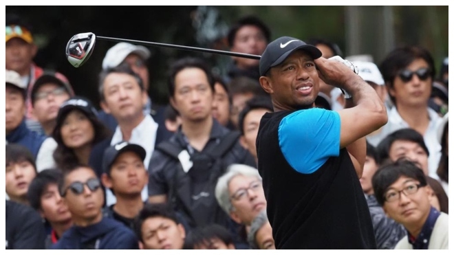 Tiger Woods, durante la tercera jornada del Zozo Championships