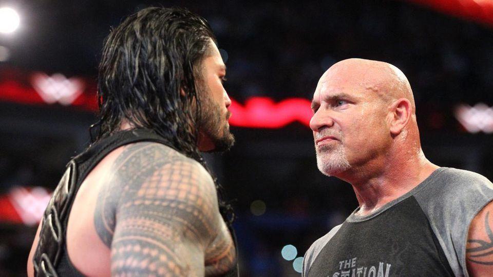 Roman Reigns y Goldberg cara a cara