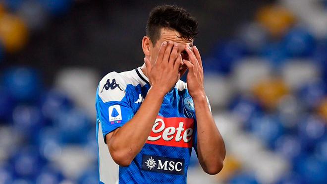 Hirving Lozano, delantero mexicano del Napoli.