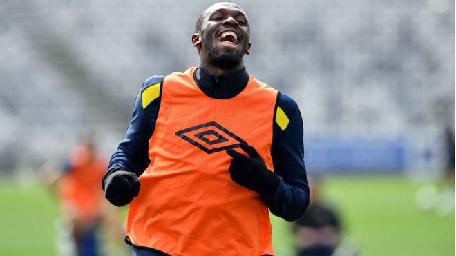 Usain Bolt, en uno de sus entrenamientos en el equipo australiano