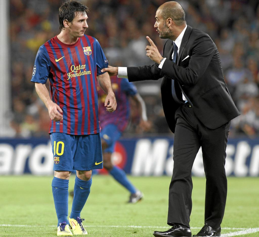 Image result for messi guardiola