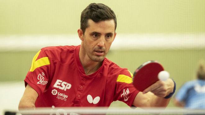 José Manuel Ruiz, durante un entrenamiento.