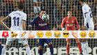 Messi en el control antes de marcar su segundo gol