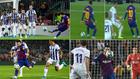Los goles y el caño de Messi a Óscar Plano