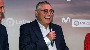 Robinson, en la presentación de la Movistar LaLiga.