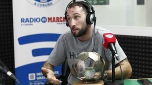 Dani Giménez, durante la entrevista en Radio MARCA La Coruña