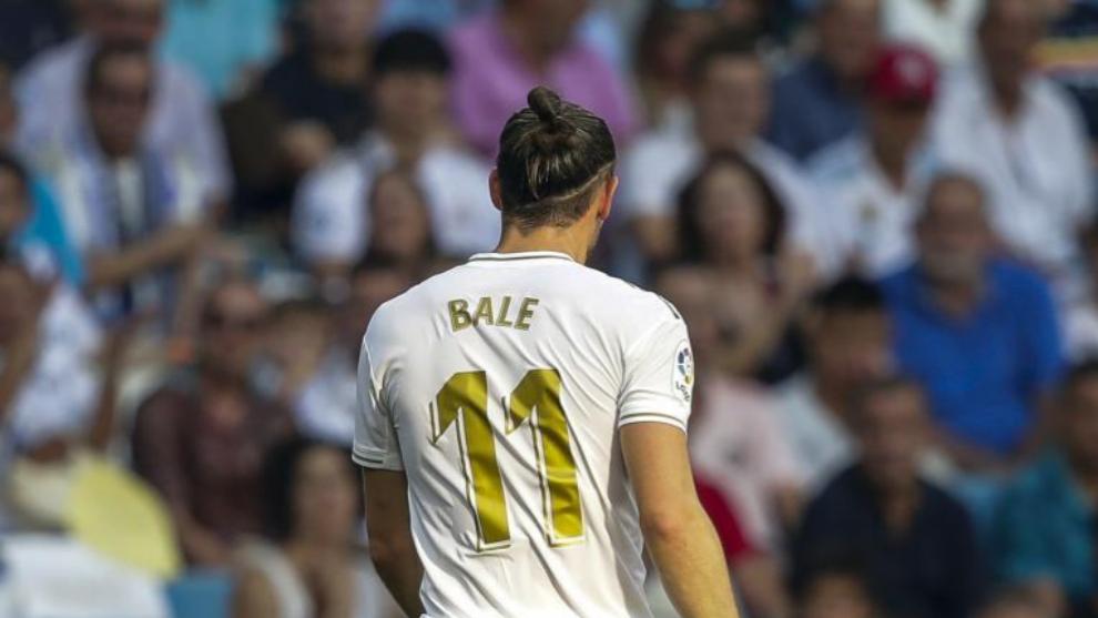 Gareth Bale en un partido con el Real Madrid.