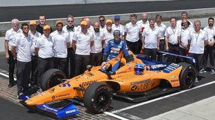 El equipo McLaren que se presentó a las 500 MIllas el pasado mes de...