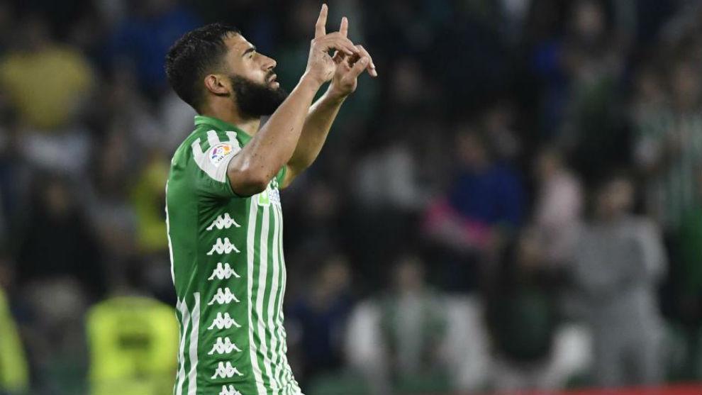 Fekir celebrando el gol de la victoria ante el Celta.