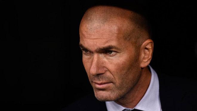 Zidane, en el banquillo ante el Leganés.