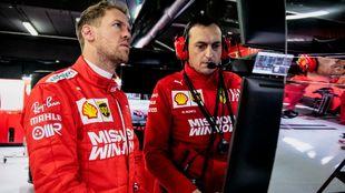 Vettel, en los test 2 de invierno.