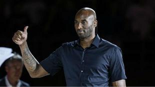 Kobe Bryant antes de la final del Mundial en China