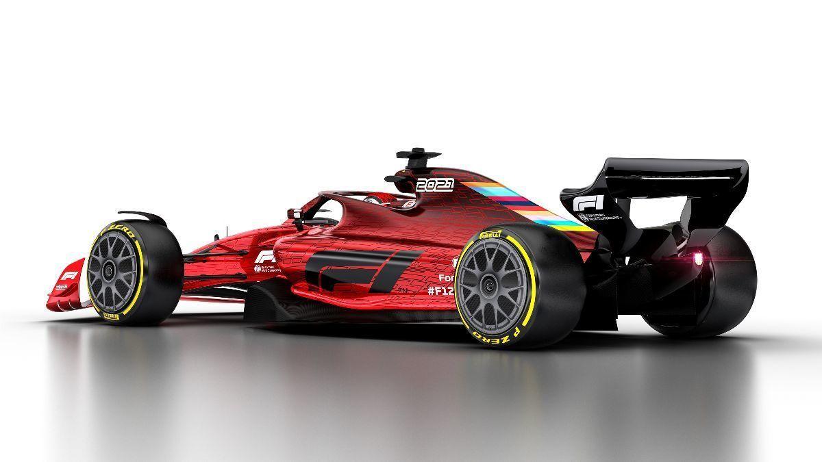 Coche de la <HIT>F1</HIT> para 2021 (firma F1.com)