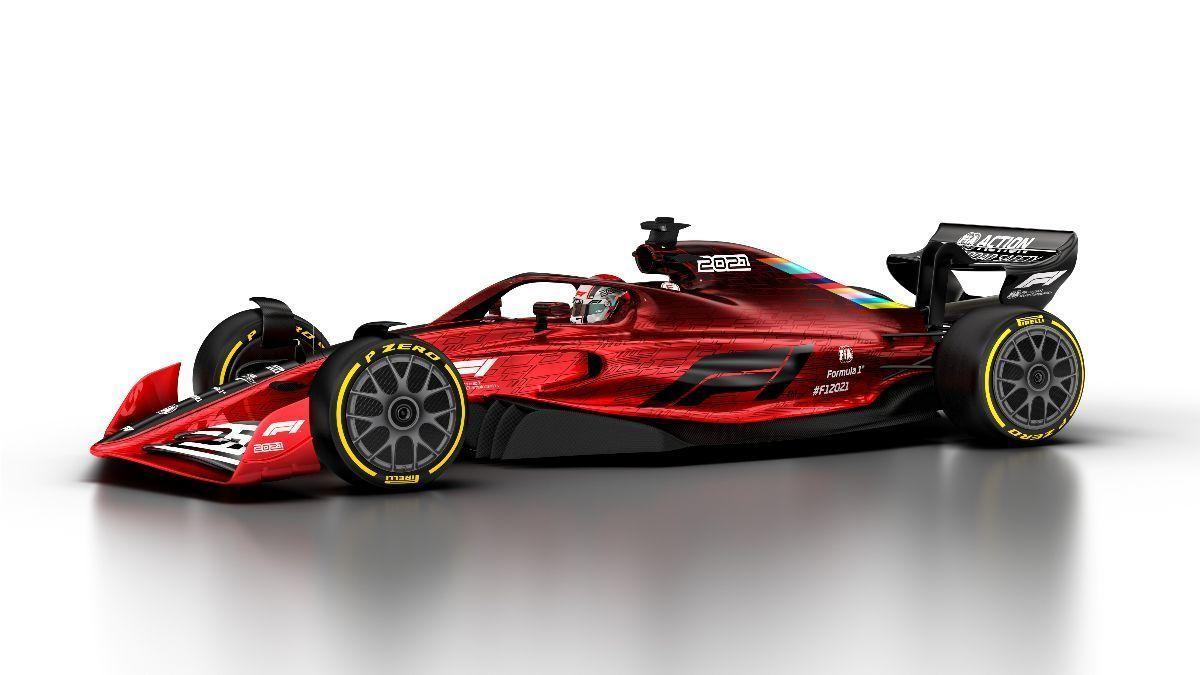 Coche de la F1 para 2021 (firma F1.com)