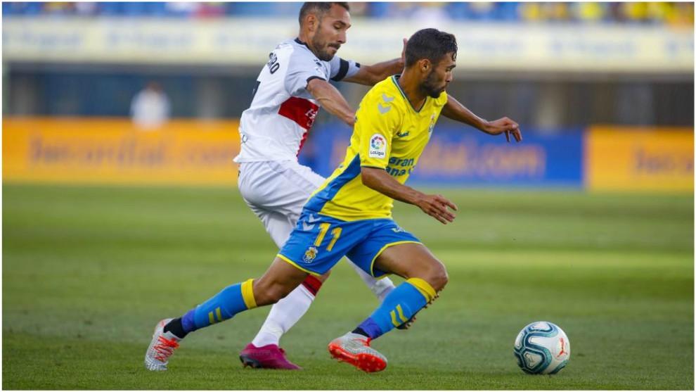 Benito, con el balón, durante un partido