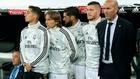 Lucas, Modric, Isco, Jovic y Zidane, en el partido ante el Leaganés.