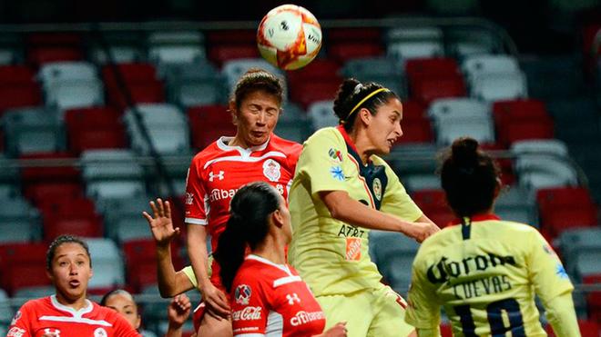 Diana González debutó en la Liga MX Femenil ante el Toluca.