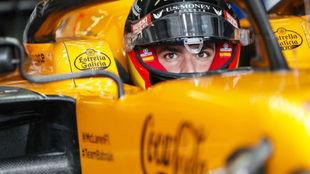 Sainz, durante la calificación del GP de Estados Unidos.