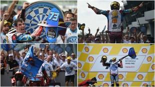 Álex Márquez, campeón del mundo. Celebración a lo grande con todo...