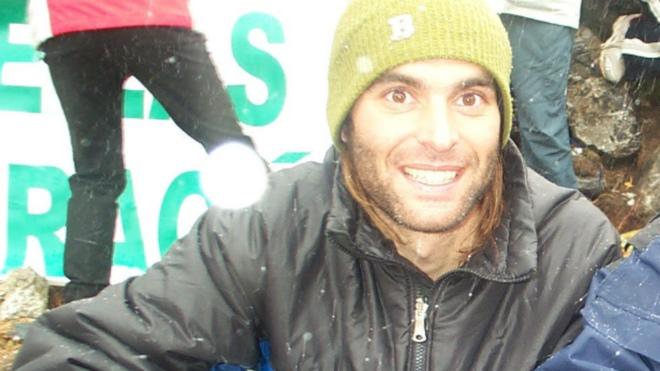 Una imagen de archivo de Fernando Sánchez Grassa, el montañero...