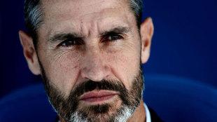 El entrenador del Mallorca Vicente Moreno, durante el partido ante el...
