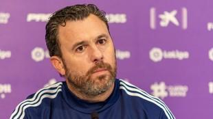 Sergio González en una rueda de prensa