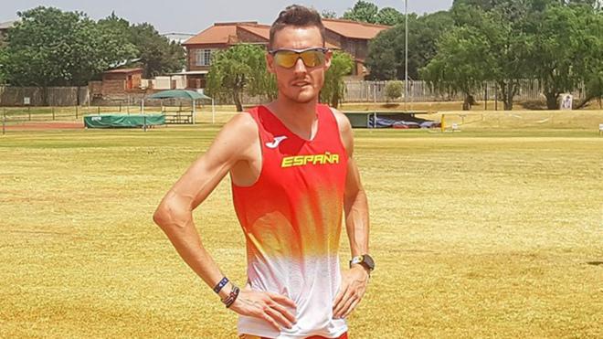 David Palacio durante un entrenamiento en Sudáfrica.