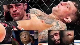 Donald Trump, testigo del baño de sangre y dramáticos KO's del UFC...