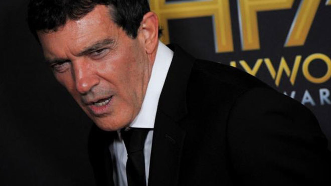 Antonio Banderas durante la ceremonia de los Hollywood Film Awards