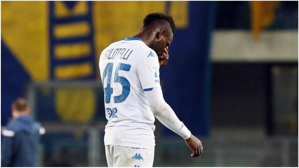 Balotelli, contra el Verona.
