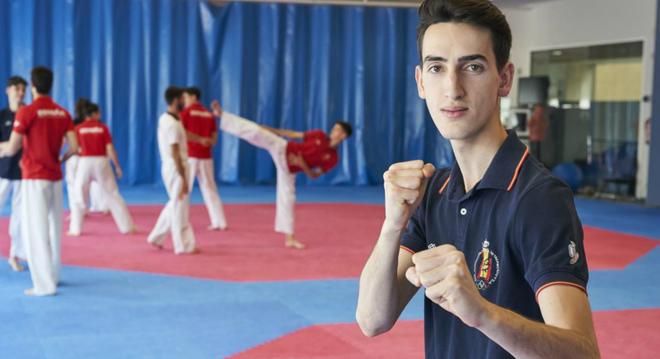 Jesús Tortosa durante un entrenamiento