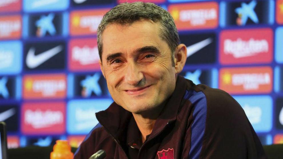 Ernesto Valverde in the press conference.